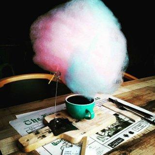 Coffee Mania, Barbe à papa café : le mariage coton sucré